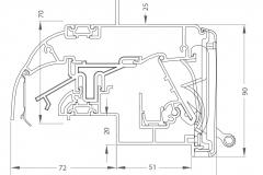 MULTICOUST EPC - technický nákres